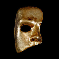 Gold Phantom of the Opera Venetian masquerade mask