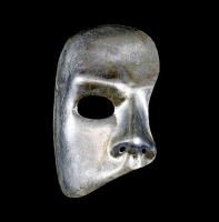 Silver Phantom of the Opera Venetian Masquerade Face Mask