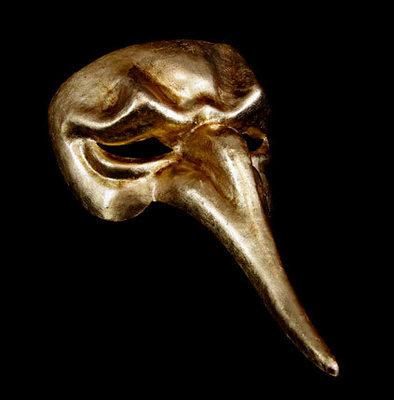 Naso Scaramouche Masquerade Mask - Gold