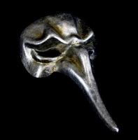 Naso Scaramouche Masquerade Mask - Silver