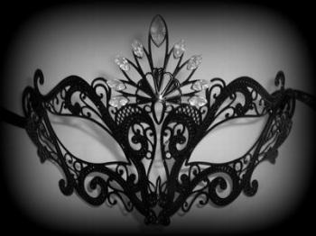 Romance Filigree Venetian Masquerade mask - Black