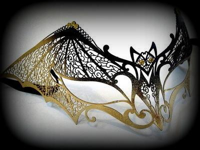 Dark Temptation Filigree Venetian Masquerade Mask