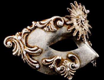 Sole Luxury Venetian Masquerade Ball Mask - Silver