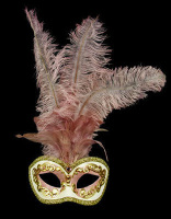 Occhi Feather Masquerade Mask - Pink
