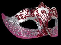 Stella Masquerade Masks - Silver Pink