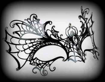 Spider Filigree Venetian Masquerade mask - Black