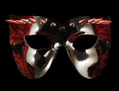 Vampire Venetian Leather Masquerade Mask - Black