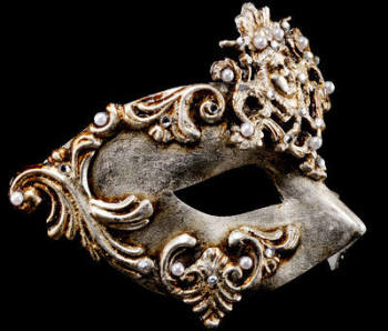 Dama Luxury Masquerade Ball Mask - Silver