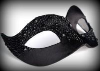 Black Asimmetrica Venetian Masquerade Mask