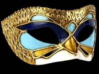 Deco Fly Masquerade Ball Masks - Blue