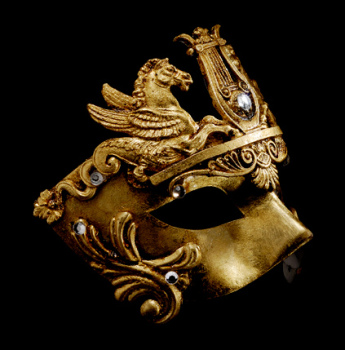 Cavalli Venetian Luxury Masquerade Ball Mask - Gold