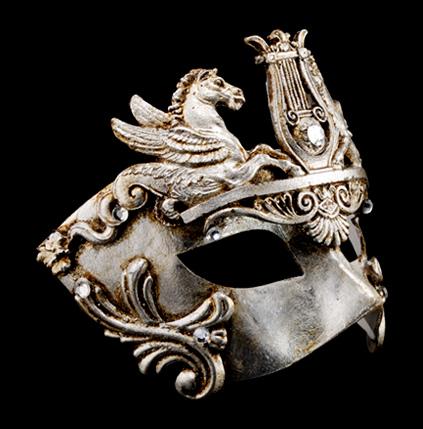 Cavalli Venetian Luxury Masquerade Ball Mask - Silver