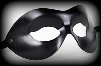 Endera Aviator Leather Mask - Black