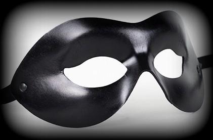 Endera Aviator Leather Venetian Masquerade Mask - Black
