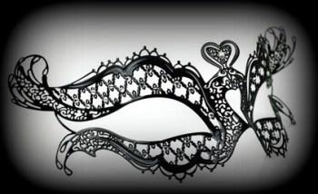 Chic Venetian Filigree Mask