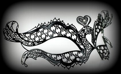 Chic Venetian Filigree Masquerade Mask