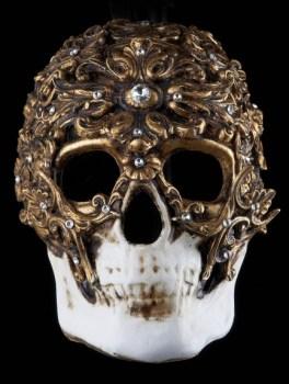 Demone Venetian Masquerade Mask - Nero