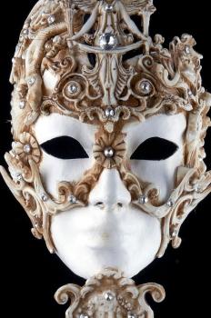 Venetian Masquerade Mask On A Stick - Ossessione Stick