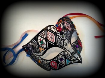 Spellbound Filigree Masquerade Mask - Swarovski Edition