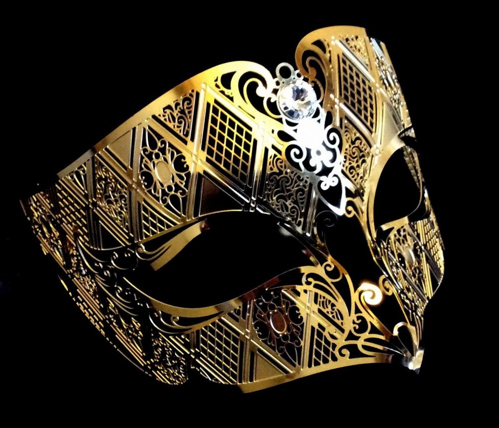 Fantasia Filigree Venetian Masquerade Mask - Limited Edition Gold