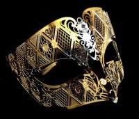Fantasia Filigree Mask - Gold