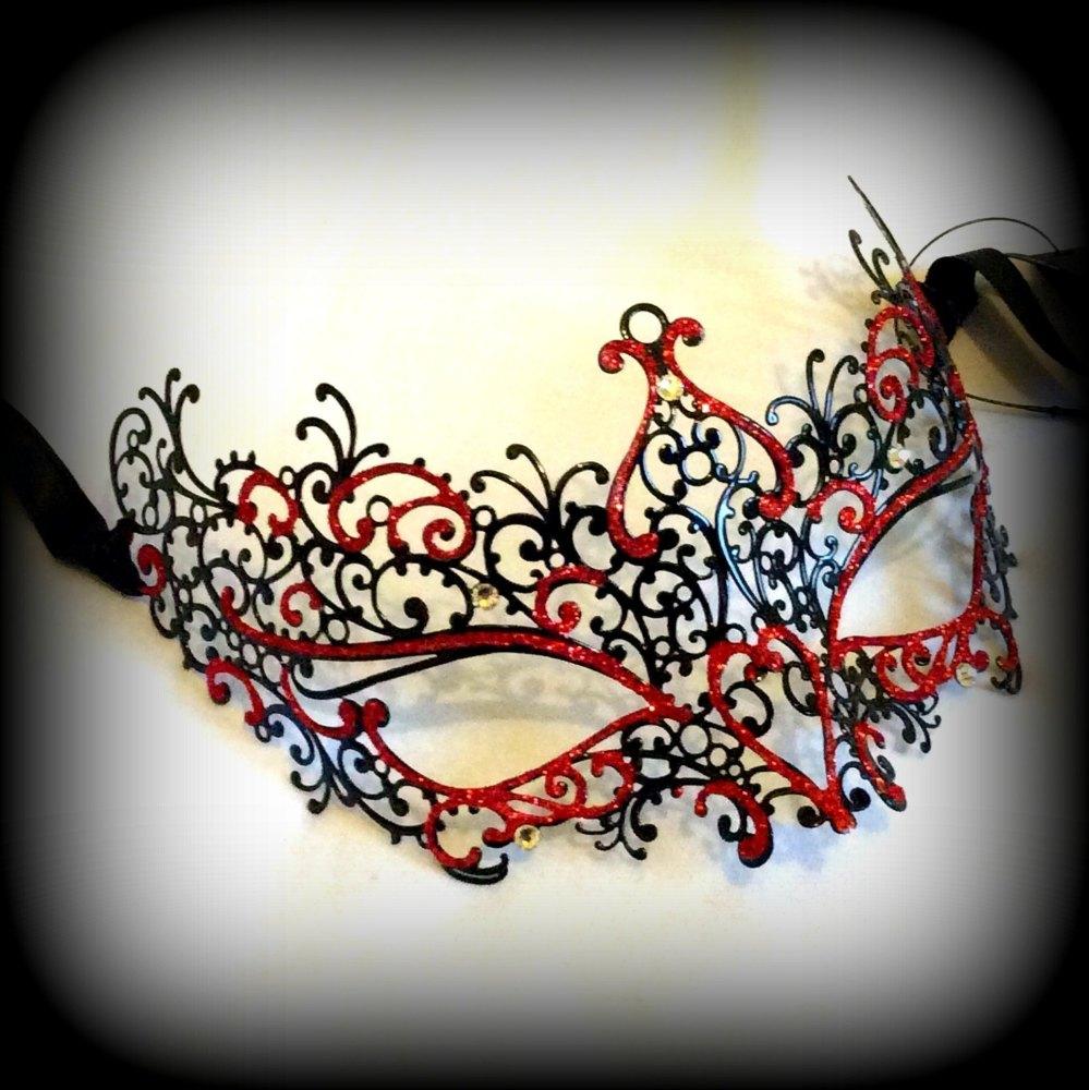 Elise Filigree Metal Venetian Masquerade Mask