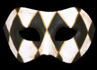 Cara Designer Masquerade Mask - Black Edition