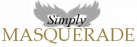 Simply Masquerade Mask Shop, site logo.