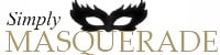 Simply Masquerade Mask Boutique, site logo.