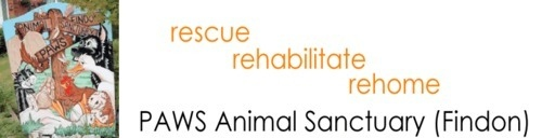 PAWS - Findon - Animal Sanctuary, site logo.