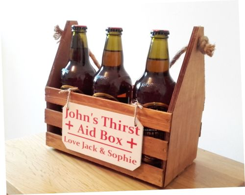 Personalised Bottle Caddy Carry Box