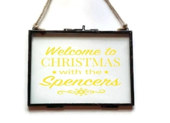 "5x7"" Floating See Through Frame - 'Welcome to Christmas with the .....'"