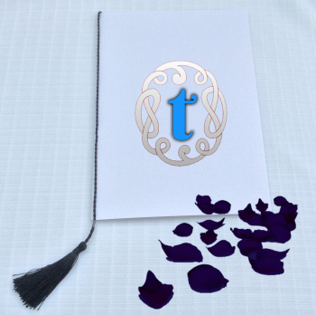 A5 TASSELS for WEDDING / Order of Service cards - NAVY BLUE COLOUR