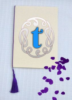 A5 Wedding Tassels  in Purple Wedding Order of Service Cards - Purple Tassels