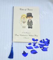 A5 Wedding Tassels for use in Menu Cards, Wedding Invitations, Royal Blue Colour