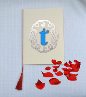 A5 TASSELS for WEDDING / Order of Service cards - RED COLOUR
