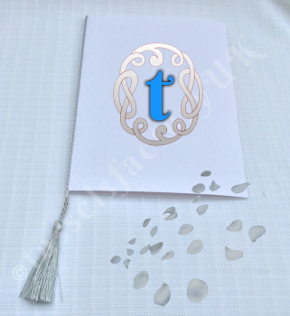 A5 TASSELS for WEDDING / Order of Service cards - SILVER COLOUR