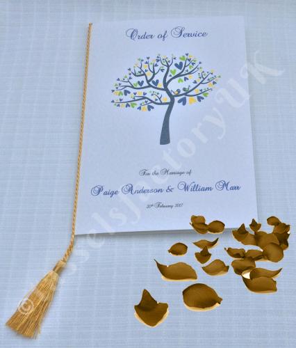 A5 Wedding Tassels for Menu Cards, Wedding Invitations, Order of Service Ca