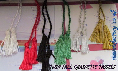 A5 Tassel with twin chainnette twin fall With Metal bead to adjust, size :