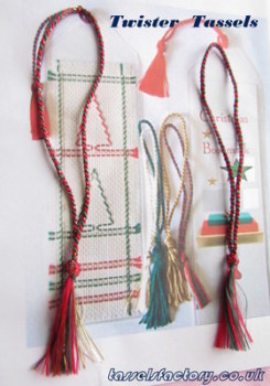 New Christmas Collection Twister Tassels for Christmas Bookmarks Gifts