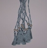 A5 Wedding Invitation Tassels in Silver Colour - Pack of 10