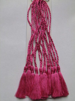 PINK BOOKMARK TASSELS (Dark SHADE) FOR BOOKMARKS & CRAFTS PACK OF 10