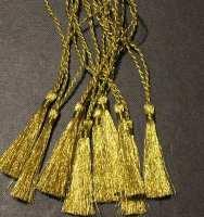GOLD BOOKMARK TASSELS IN GLITTERING METALLIC THREAD - PACK OF 10