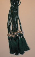 A5 SPINE TASSELS DARK GREEN - ORDER OF SERVICE - WEDDING