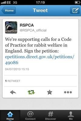 RSPCA tweet