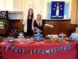 Holly and Sarah cake stall
