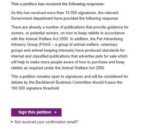 e-petition response