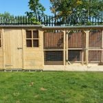 rabbit housing - boyles pet housing shed with run