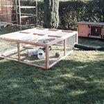 rabbit housing - welfare hutch company 7ft hutch 8ft run