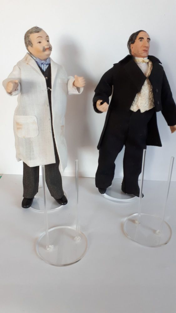 1/12th scale doll stand for men or ladies wearing trousers